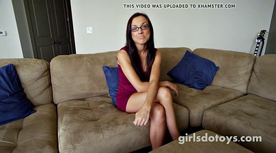 Glasses, Tits play, Glasses teen, Brunette glasses