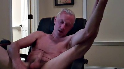 Masturbating, Sex, Gay daddy, Dad gay, Computer, Chair