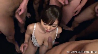 Japanese gangbang, Asian bukkake