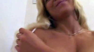 Moms, Mom handjob, Blond milf