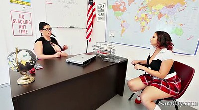 Sara jay, Lesbian teacher, Pupil, Angelina castro, Angelina