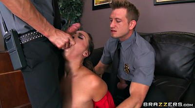 Huge tits, Huge cock, Threesome office