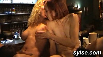 Forest, Restaurant, Mature amateur threesome