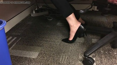 Heels, Candid, Shoeplay, Candid feet