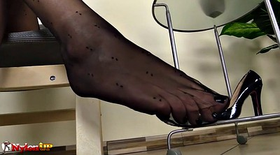 Footjob, Feet, Pantyhose footjob