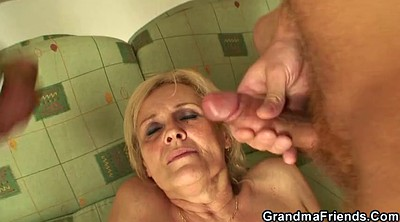 Swallow, Threesomes, Swallowing, Mature swallow