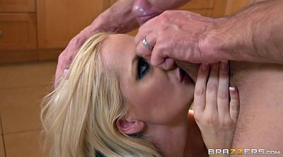 Passionate milf, On her knees blowjob, On her knees