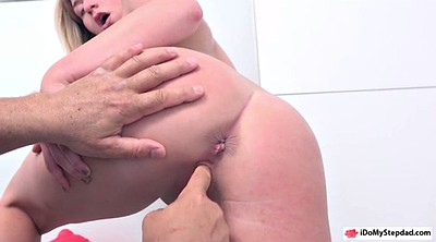 Shower fuck, Shaved pussy
