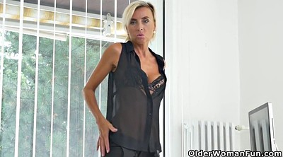 Office, Sunny, Skinny milf, Skinny mature