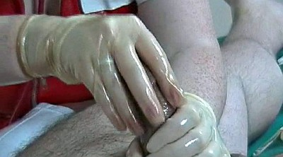 Milking, Gloves, Rubber, Nurse handjob