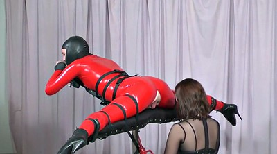 Latex, Strapon, Machine fucking, Latex bdsm, Bdsm machine