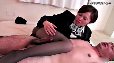 Nylon, Japanese pantyhose, Japanese footjob, Pantyhose footjob, Pantyhose feet, Nylon footjob