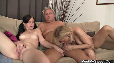 Find, Old cock, Granny threesome