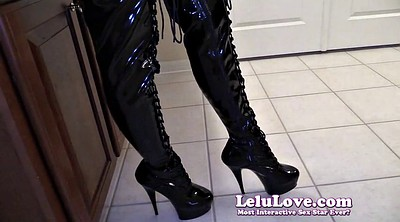 Boot, Sloppy blowjob, Lelu love, Gloves