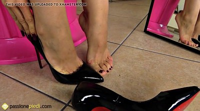 Black, Nylon feet, Fetish, Nylons, Nylon foot, Stilettos