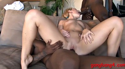 Double anal, Anal gangbang, Anal interracial, Couch, Black anal