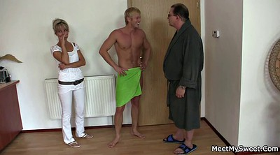 Young wife, Wife threesome, Old couples