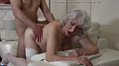 Young boy, Mature boy, Hairy granny mature