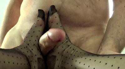 Footjob, Nylon feet, Nylon foot, Nylon footjob