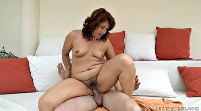 Mature blowjob, Hairy mature