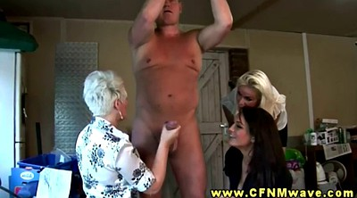 Cfnm, Old guy, Hand job