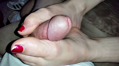Footjob, Foot fetish, Wife foot, Closeup