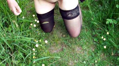 Stock, Wife stockings, Wife naked, Mature outdoor