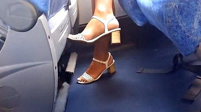 Candid, On bus, Milf feet