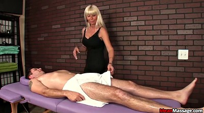 Mature young, Blindfold, Milf handjob