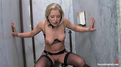 Lingerie, Mouth cum, Double suck, Shower threesome
