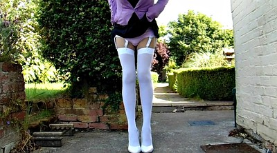 Stocking, Nylon, White stockings, Knickers