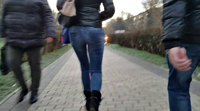 With a girl, Street