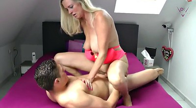 Cheating wife, Step son, Blond wife