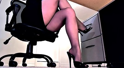 Footjob, Pantyhose footjob, High heels