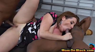 Work, Mom black, Black mom, Black guy, Big mom, Threesome mom