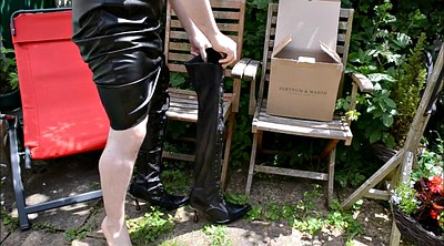 Boots, Garden, Leather boots
