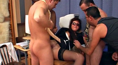 Milf, Gangbang, Glasses, Cream