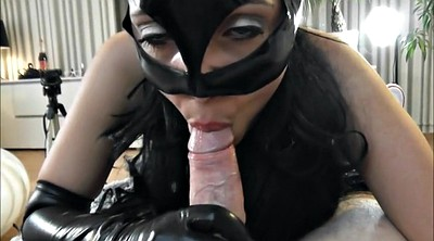 Gloves, Mask, Cat, Latex gloves, Catsuit, Latex fuck