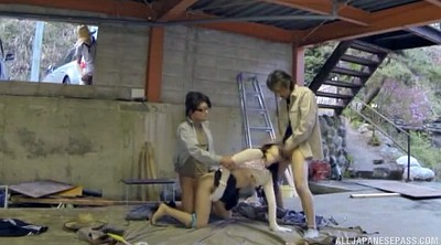 Japanese threesome, Japanese cowgirl, Japanese woman, Japanese blowjob