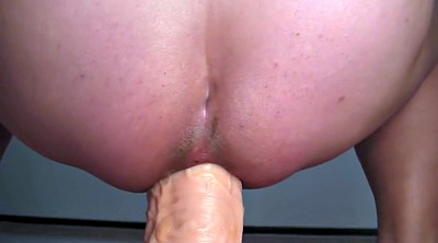 Open, Gaping, Riding dildo, Wide open, Bbw dildo riding