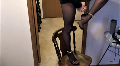 Feet, Crossdresser, Crossdress, Feet nylon, Cum feet, Cum anal