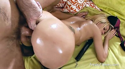 Oiled, Monster anal, Anal monster