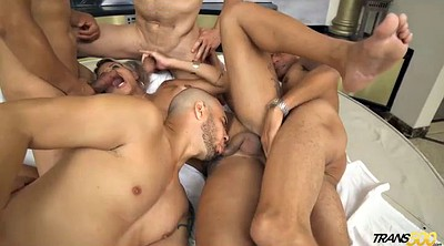 Gorgeous, Shemale gangbang