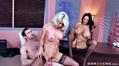 Boss, Ava addams, Office feet, Mature foot, Chubby blonde, Threesome foot