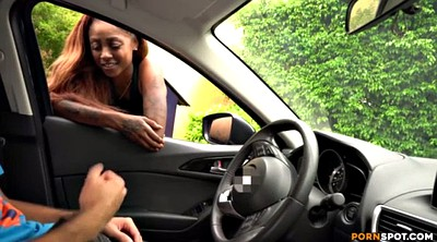Car, Car handjob, Black woman