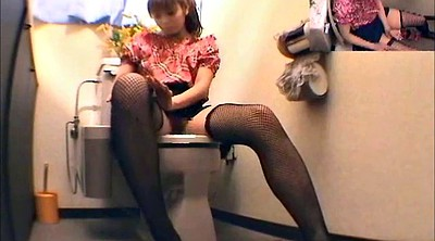 Toilet, Japanese girl, Voyeur toilet