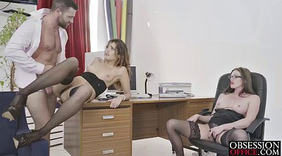 Office, Cum in pussy, Own