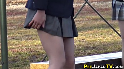 Student, Asian student, Asian pee, Public piss, Uniforms, Asian piss