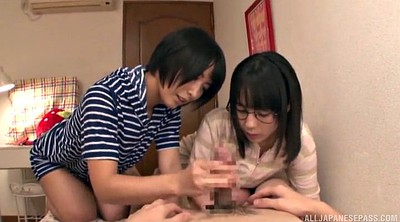 Japanese handjob, Japanese big, Threesome japanese