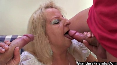 Grandma, Granny threesome, Threesome mature, Young blonde, Old young threesome, Old mature